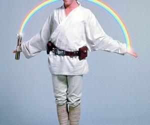 star wars, luke skywalker, and rainbow image