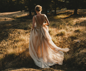 dress, fashion, and nature image