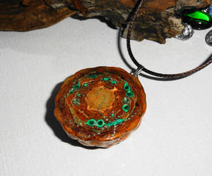 etsy, handmade jewelry, and pine cone necklace image