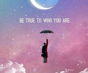 quotes, moon, and true image