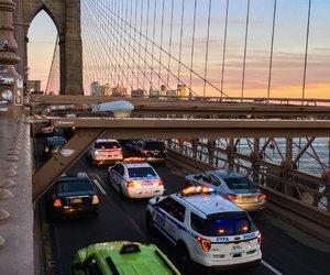 bridge, new york, and cars image