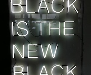 black, quote, and neon image