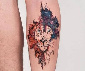 tattoo, lion, and tatto image