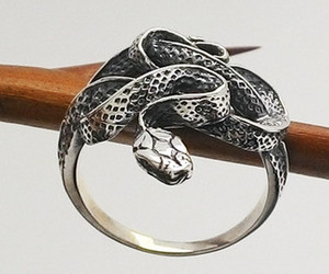 black, ring, and white image