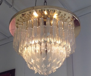angelic, chandelier, and glass image