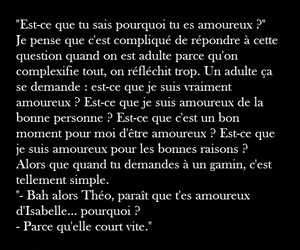 amour, amoureux, and quote image