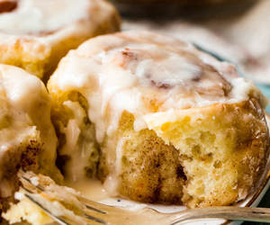 bread, cinnamon roll, and food image