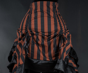 bustle, steampunk, and stripes image