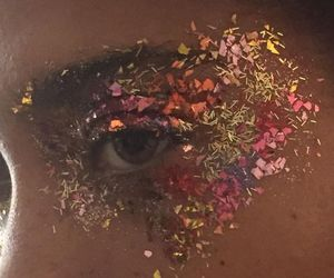 eyes, aesthetic, and glitter image