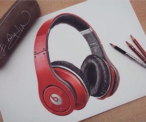 draw, drawing, and headphones image