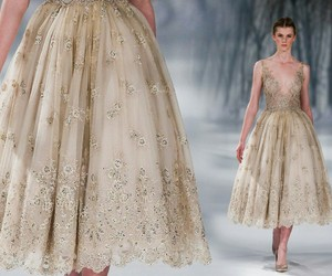 fashion style, runway model, and dresses couture image
