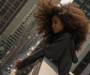 beautiful hair, thick hair, and frizzy curls image