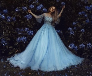 dress, fantasy, and flowers image