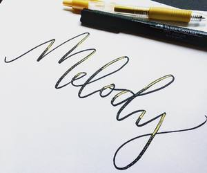 black and gold, calligraphy, and lettering image