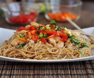 asian, spaghetti, and thai food image