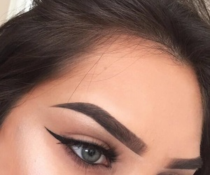 blue, eyebrows, and eyeliner image