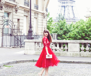 paris, fashion, and red image