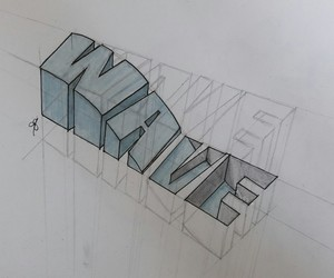 3d, dessin, and wave image