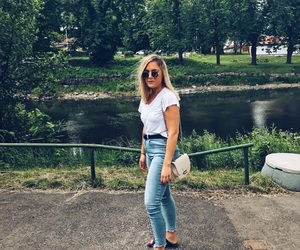 birkenstock, blonde, and city life image