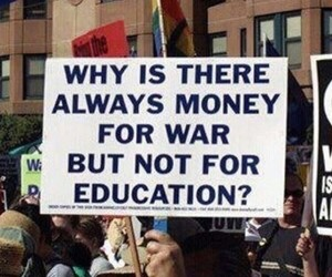 education and war image