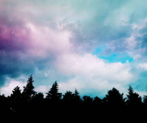 art, black, and clouds image