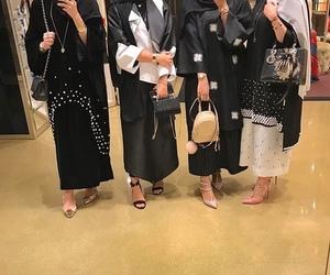 abaya, bag, and fashion image