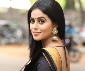 saree, indian actress, and south indian actress image