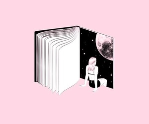 pink, aesthetic, and book image