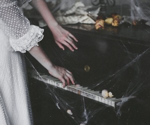 piano, vintage, and old image
