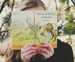 book, vintage, and narnia image