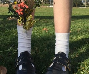 flowers, aesthetic, and shoes image