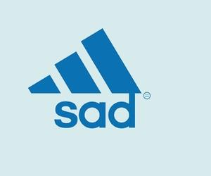 sad, header, and adidas image