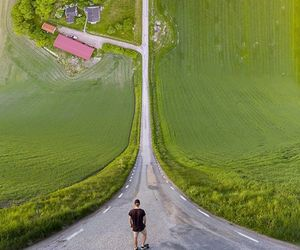 drone and perspective image