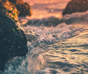 waves, nature, and travel image