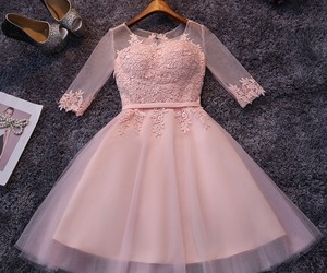 dress, pink, and girl image