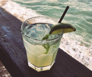 drink, beach, and sea image