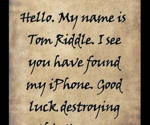 harry potter, tom riddle, and horcrux image