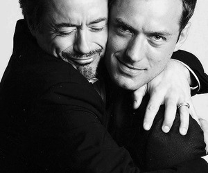 jude law, robert downey jr, and sherlock holmes image