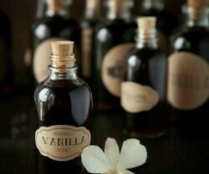 flowers, vanilla, and extract image