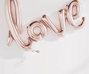 balloon, wall, and rose gold image