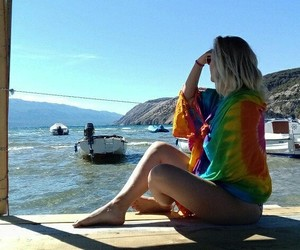 blonde, boat, and girl image