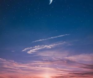 moon, stars, and beautiful image