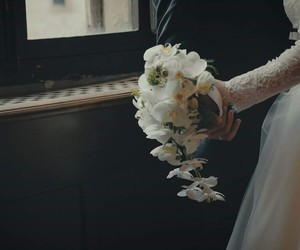 wedding, flowers, and love image