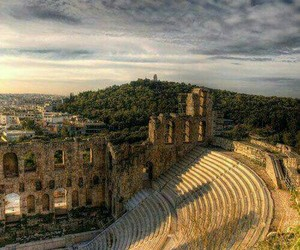 Greece, Athens, and theatre image