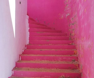 pink and stairs image