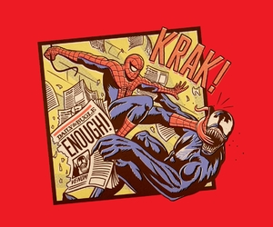 illustration, Marvel, and spider-man image