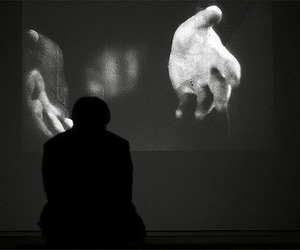 black and white, hands, and art image