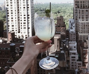 city, drink, and view image