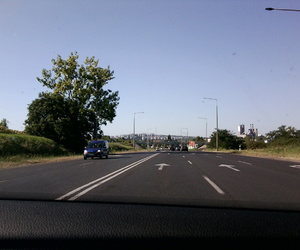 city, driving, and on the road image