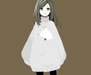 anime, anime girl, and brown hair image